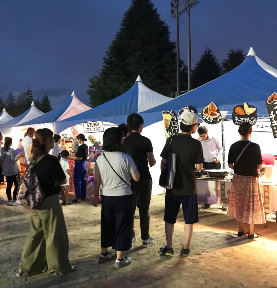 8月13日(月)開催の「第四回 町民盆踊り大会」に出店しました!