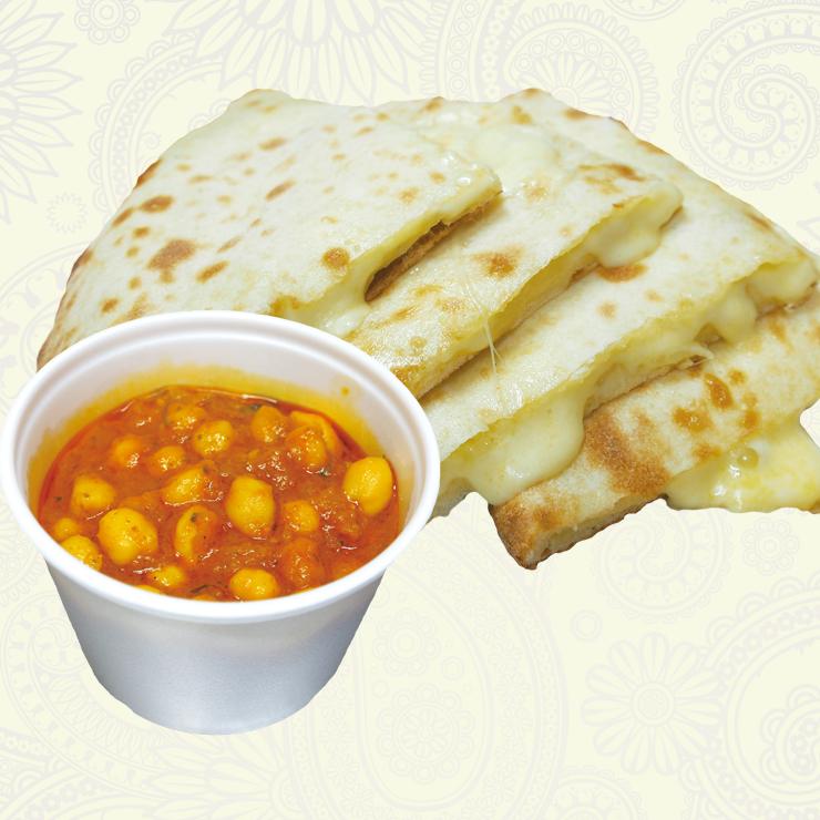 奈良王寺のインド料理 Mayur -マユール- チーズナンセット