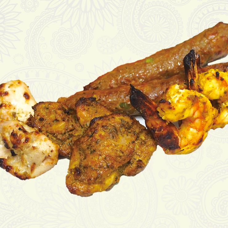 奈良王寺の本格インド料理 Mayur -マユール- ミックスケバブ