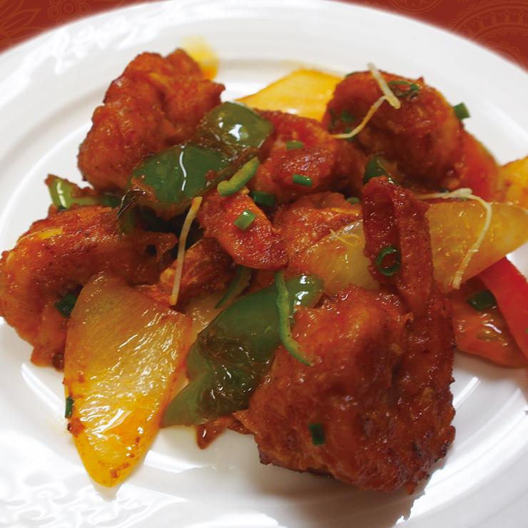 奈良王寺の本格インド料理 Mayur -マユール- プラウンチリ